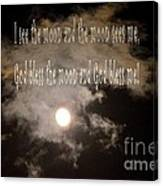 God Bless The Moon Canvas Print