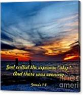 God Called It Sky Canvas Print