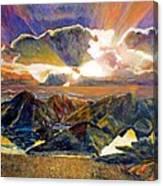 God Speaking Canvas Print