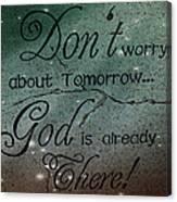 God Spiritual Art - Inspirational Message Typography Canvas Print