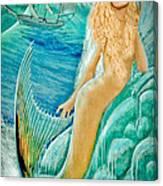 Goddess Atargatis 1000 Bc Canvas Print