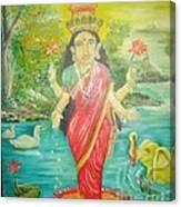 Goddess Mahalaxmi Canvas Print