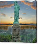 Goddess Of Freedom Canvas Print