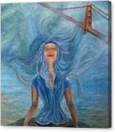 Goddess Of Golden Gate Brigde Canvas Print
