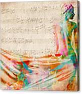 Goddess Of Music Canvas Print