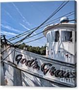 God's Grace Shrimp Boat Canvas Print