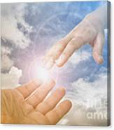 God's Saving Hand Canvas Print