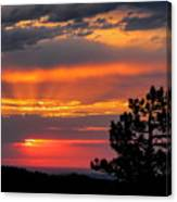 God's Spotlight Over Keystone Canvas Print