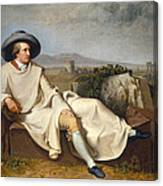Goethe In The Roman Campagna Canvas Print