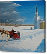 Going Home From Church Canvas Print