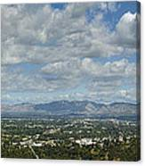 Going Places Cloudy Blue Sky Panoramic Canvas Print