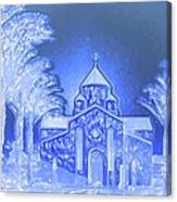 Going To Church On Christmas Canvas Print