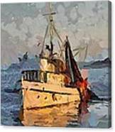 Going To Night Fishing Canvas Print