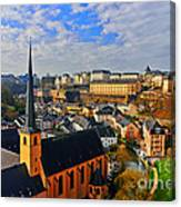 Going To Old Town Canvas Print