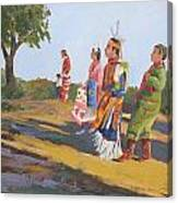 Going To The Powwow Canvas Print