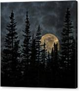 Going To The Sun Moonrise Canvas Print
