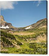 Going To The Sun Road From Highline Trail Canvas Print