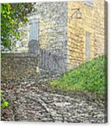 Going Up The Lane In Beynac Digital Print Canvas Print