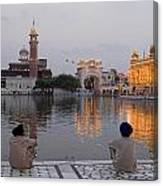 Gold At Golden Temple Canvas Print