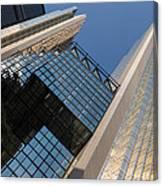 Gold Black And Blue Geometry - Royal Bank Plaza Canvas Print