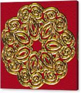 Gold Broach Canvas Print