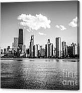 Gold Coast Skyline In Chicago Black And White Picture Canvas Print