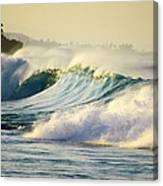 Gold Crested Surf Canvas Print