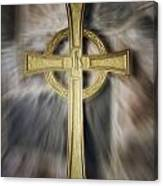 Gold Cross Canvas Print