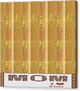 Gold Embossed Foil Art For Mom Digital Graphic Signature   Art  Navinjoshi  Artist Created Images Te Canvas Print