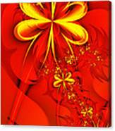 Gold Flowers Canvas Print