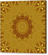 Gold Flowers Canvas Print