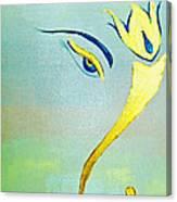 Gold Ganesh Canvas Print