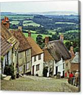 Gold Hill Shaftesbury Uk 1980s Canvas Print