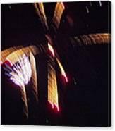 Gold Leafy Firework Canvas Print