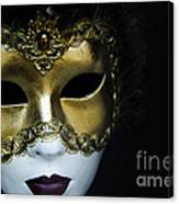 Gold Mask Canvas Print