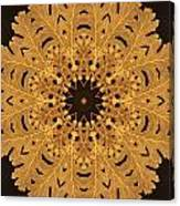 Gold Oak Leaves Canvas Print