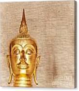 Gold Painted Buddha Statue Canvas Print