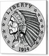 Gold Quarter Eagle Canvas Print