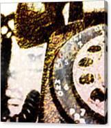 Gold Rotary Phone Canvas Print