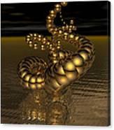Gold Serpentine  Canvas Print