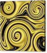 Gold Swirl Canvas Print