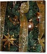 Gold Tones Tree Canvas Print