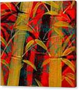 Golden Bamboo Canvas Print