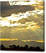 Golden Beams Of Sunlight Shining Down Canvas Print