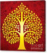Golden Bodhi Tree No.1 Canvas Print
