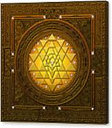Golden-briliant Sri Yantra Canvas Print