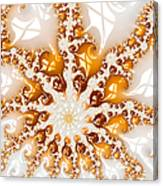 Golden Brown And White Luxe Abstract Art Canvas Print