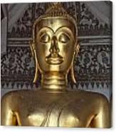 Golden Buddha Temple Statue Canvas Print
