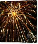 Golden Burst Canvas Print