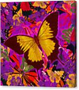 Golden Butterfly Painting Canvas Print